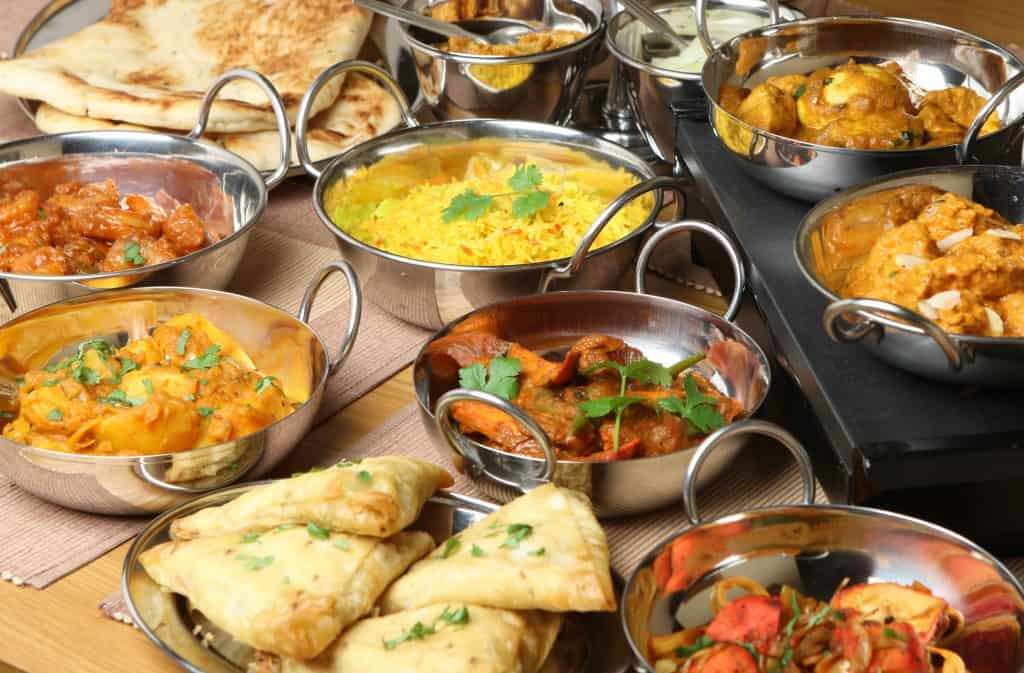 Assortment of Indian Food