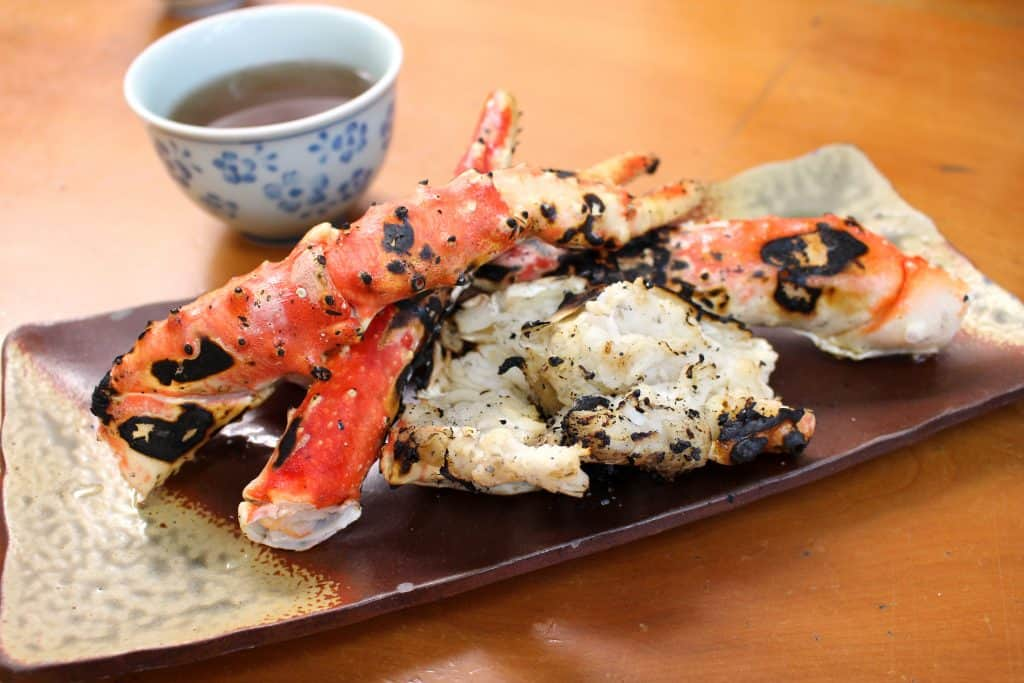 Japanese Food Grilled Crab