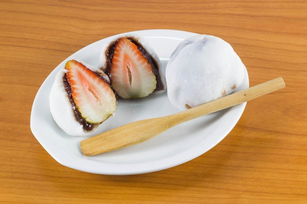 Japanese Food Ichigo Daifuku