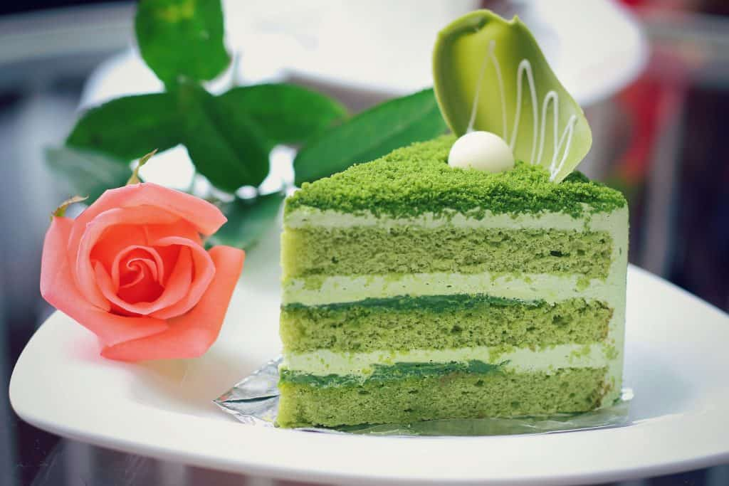Japanese Food Matcha Green Tea Cake