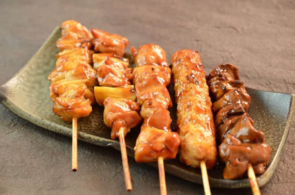 Japanese Food Yakitori Skewers