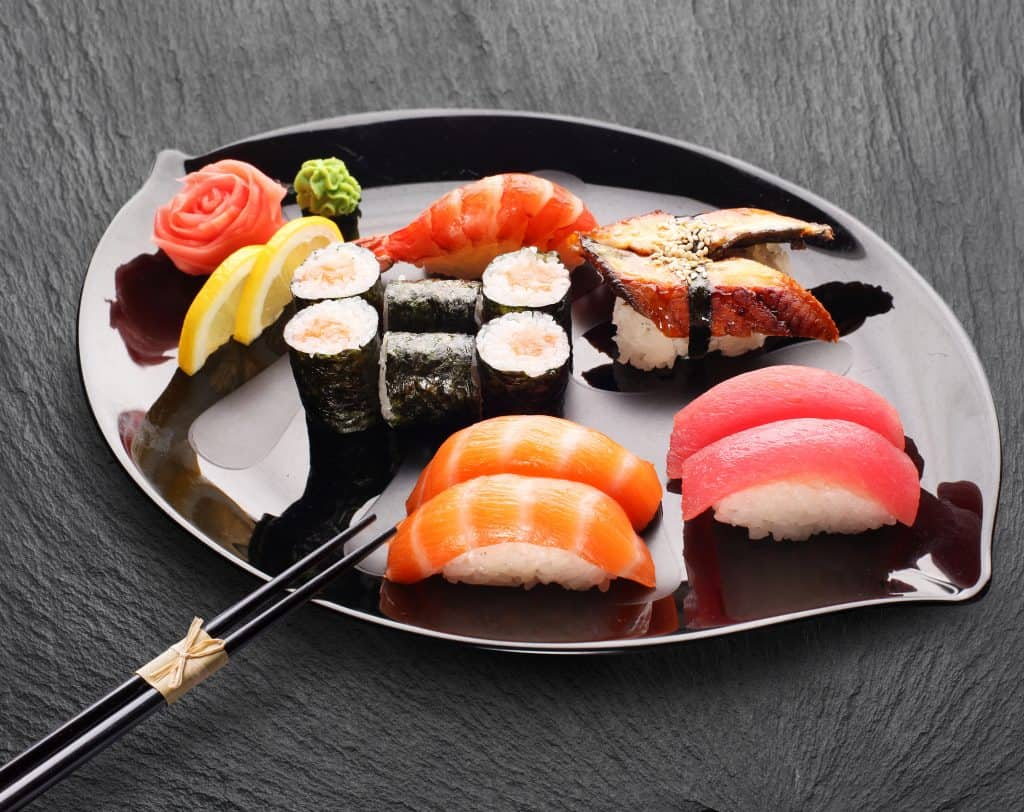 Japanese Food Plate of Sushi