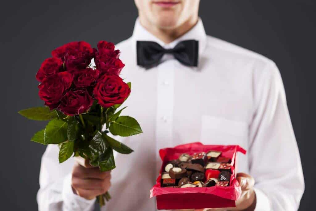 Valentine's Day and White Day in Japan - Man Giving Chocolates on White Day