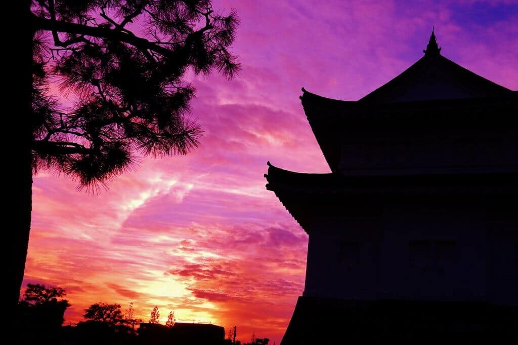 Nijo Castle Sunset