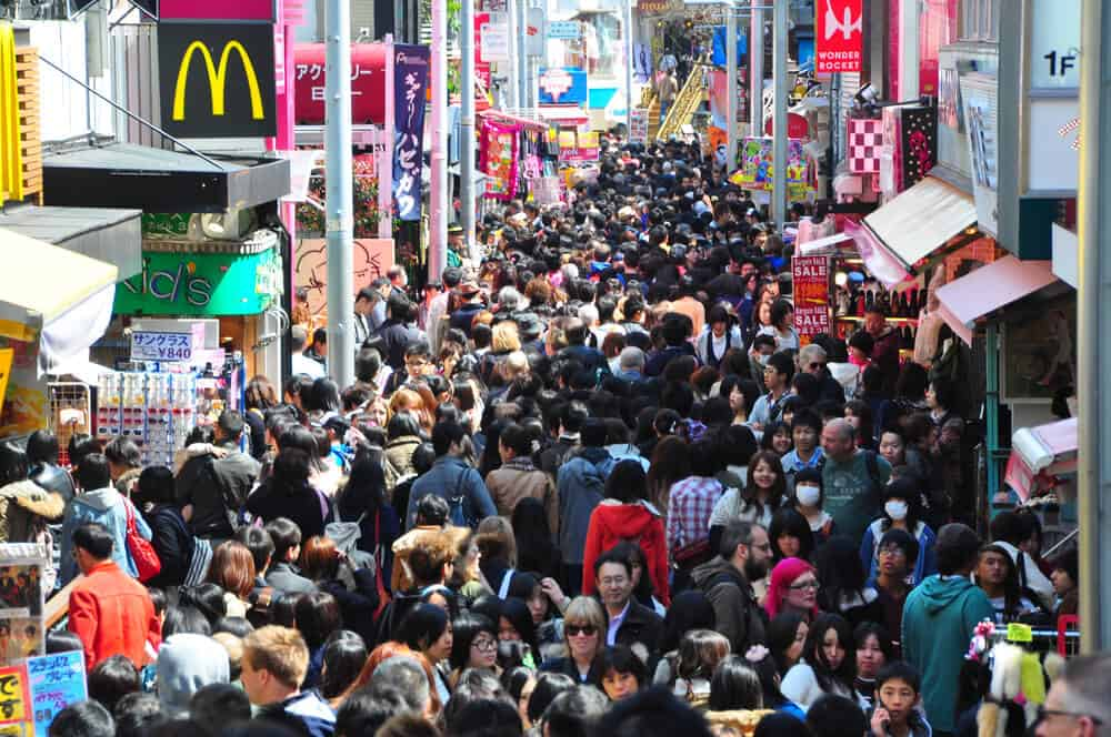 Best Time to Visit Japan - Spring - Crowded Street