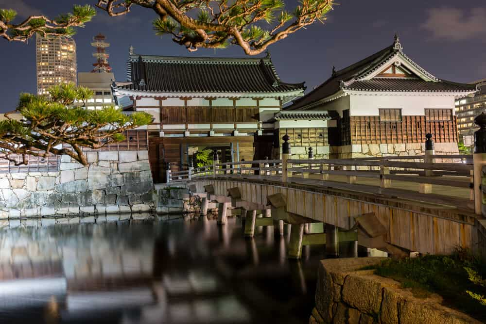 Hiroshima Castle - Night Gate