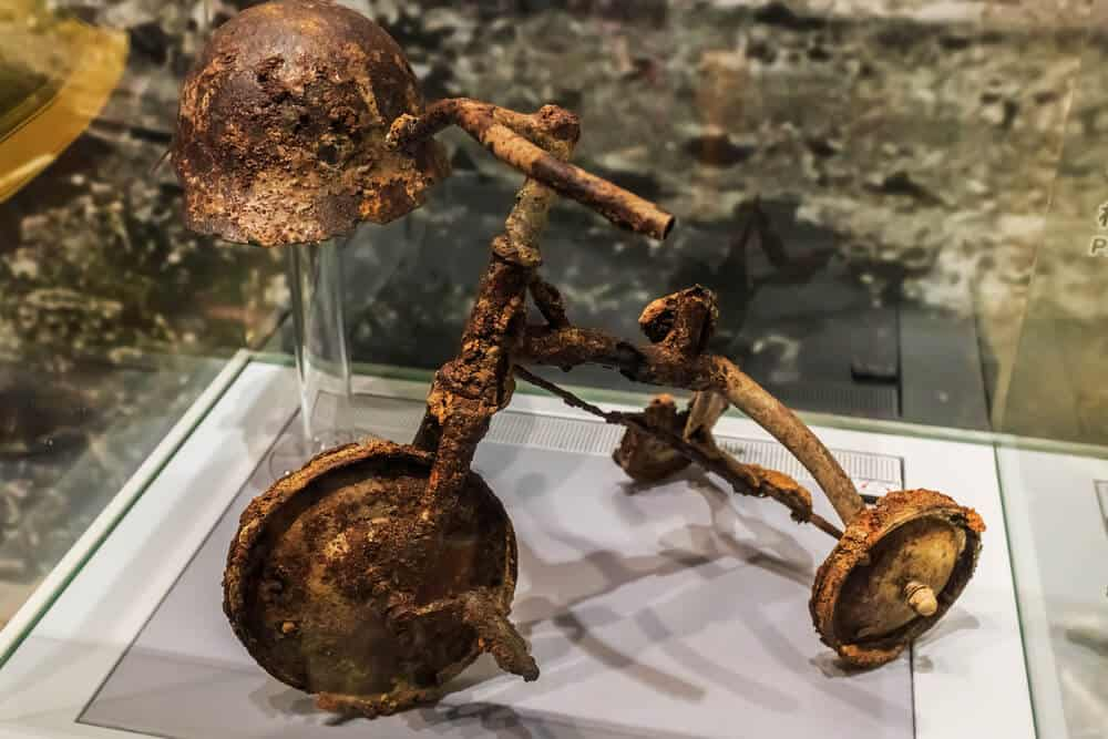 Hiroshima Peace Memorial Museum - Tricycle Burnt