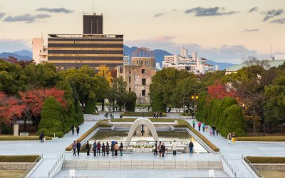 Hiroshima Peace Memorial Park Air View