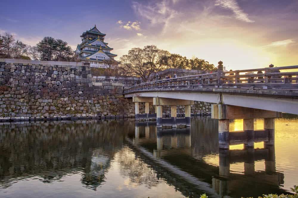 Osaka Castle - Sunset