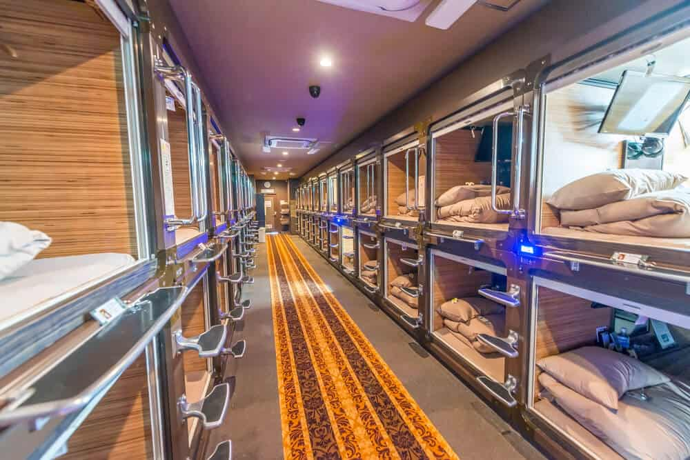 Japan on a Budget - Capsule Hotel