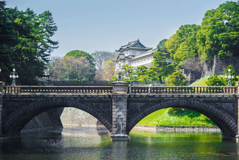 Imperial Palace Gardens Seimon Ishibashi Bridge