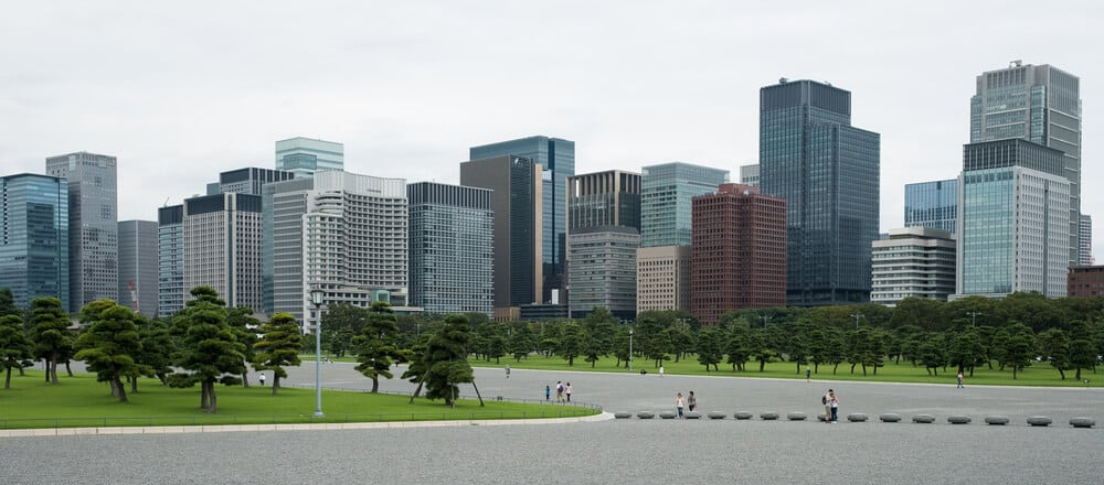 Imperial Palace Tokyo Outer Gardens Wide View