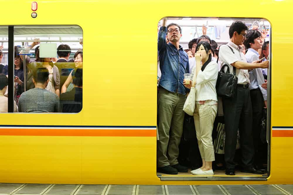 Japan Travel Guide Crowded and Packed Trains