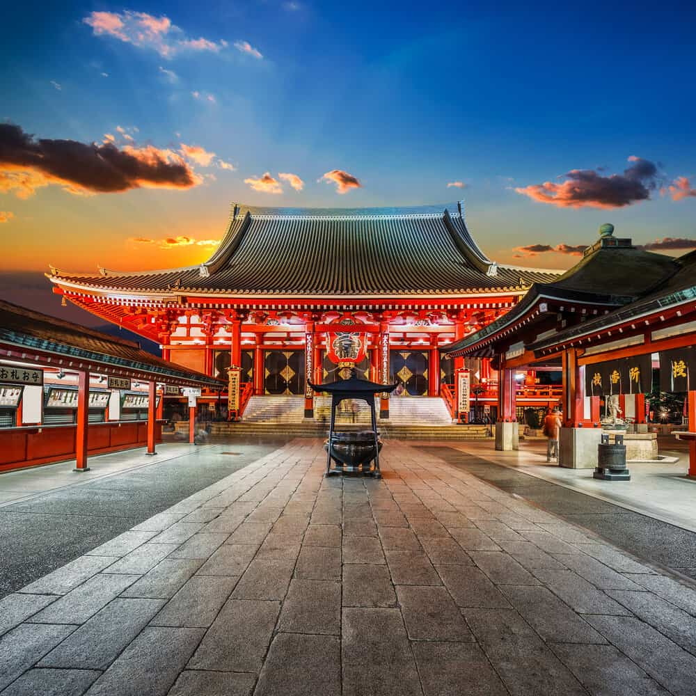 Sensoji Temple Sky Background