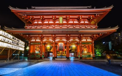 Sensoji Temple at Night