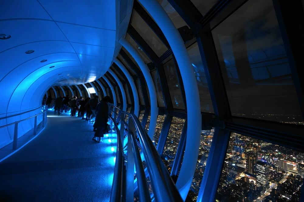 Tokyo SkyTree Observation Tembo Deck at Night