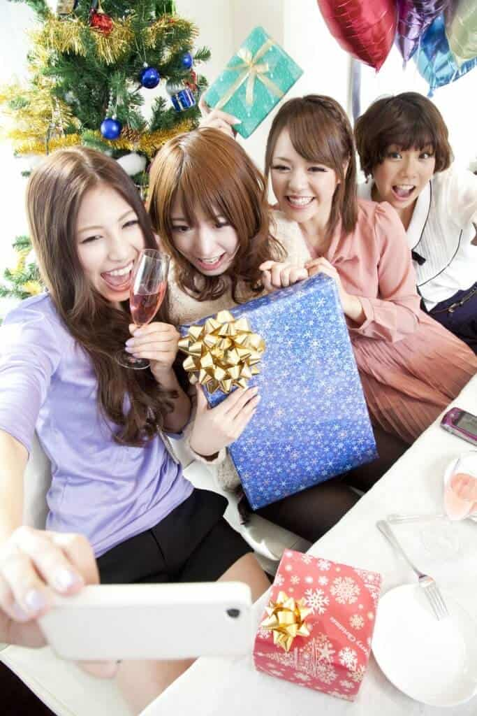 Christmas in Japan Girls Gift Giving