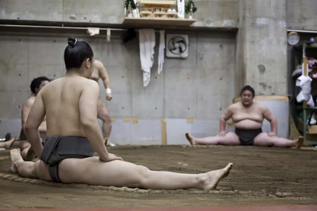 Sumo in Tokyo Stretching