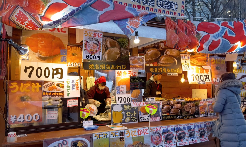 Things to Do in Sapporo Snow Festival Food Booth