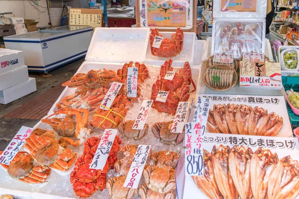 What to do in Sapporo Nijo Market Crab and Seafood