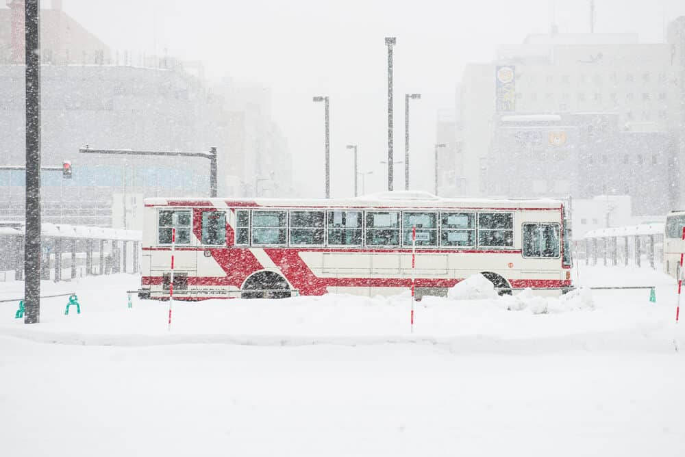 Bus at Asahikawa Station