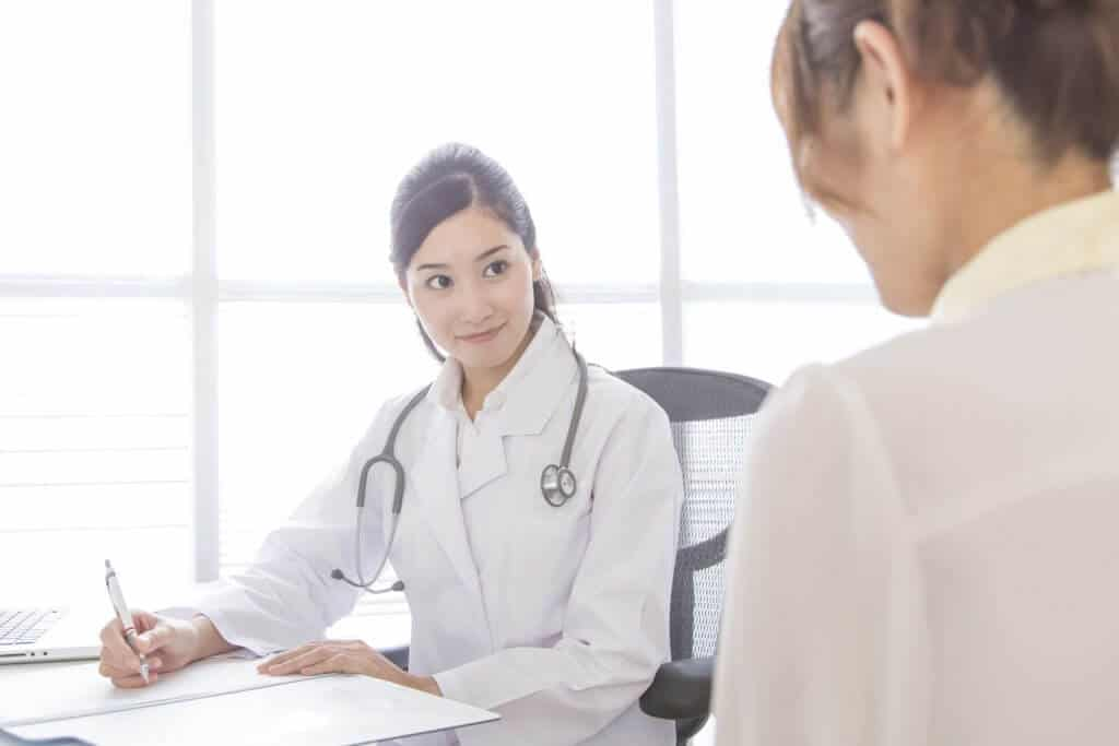 Going to the Doctor in Japan Female Doctor Consulting