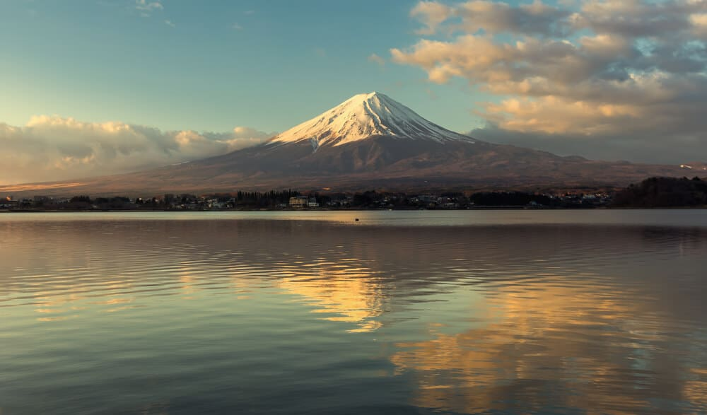 Lake Kawaguchi Fuji Background