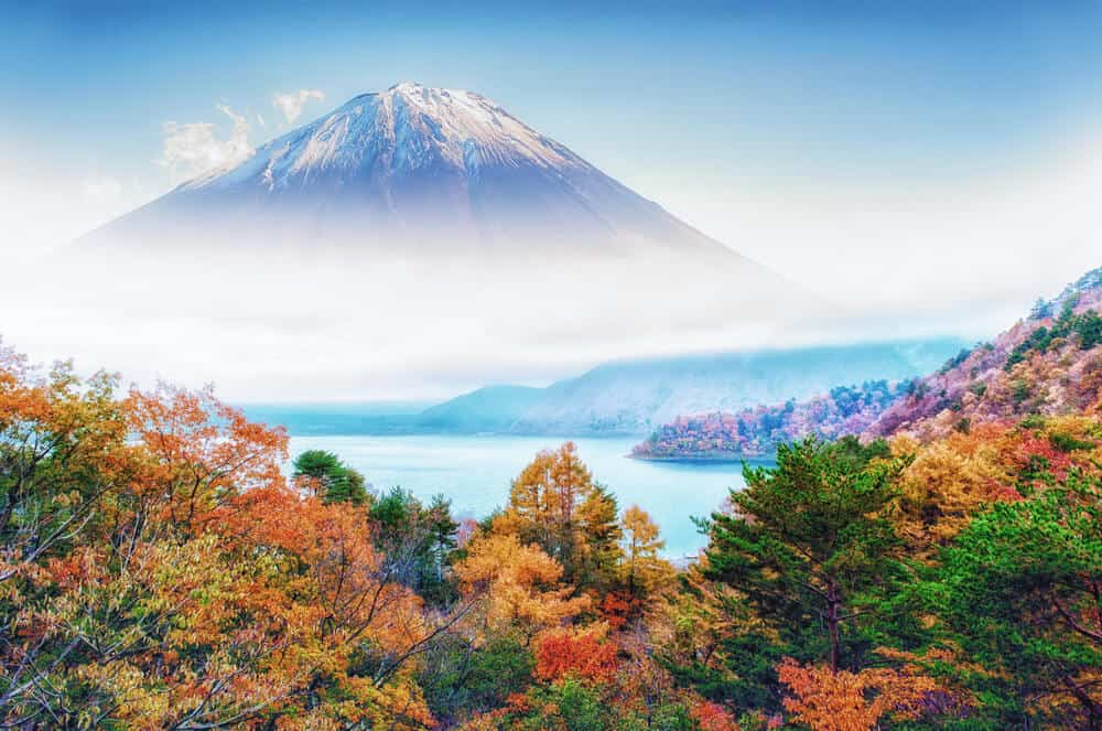Mt. Fuji Autumn Leaves