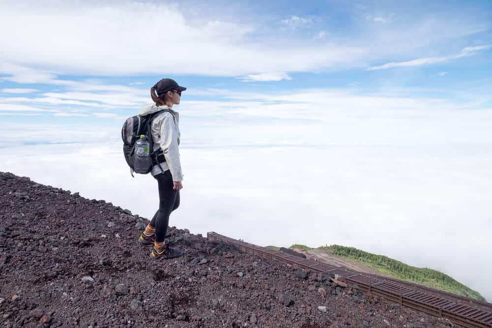 Mt. Fuji Hiker Be Prepared