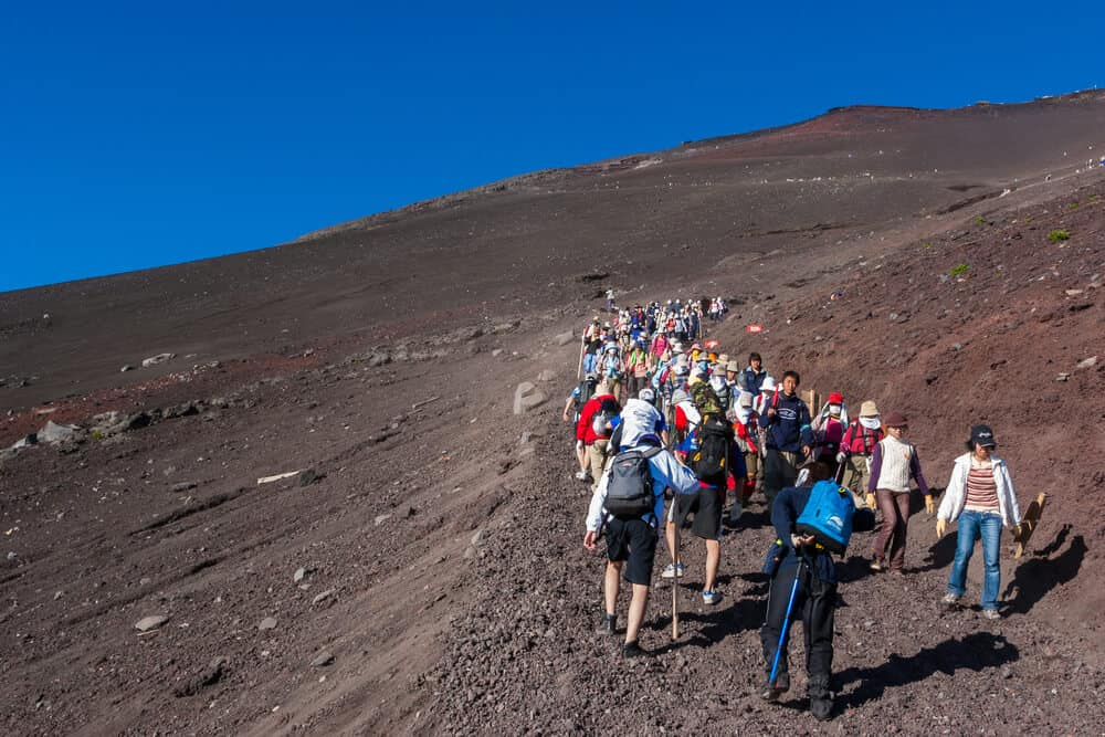 Mt. Fuji Hikers
