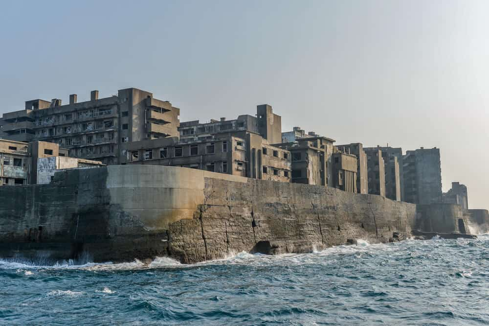 Gunkanjima From Ocean