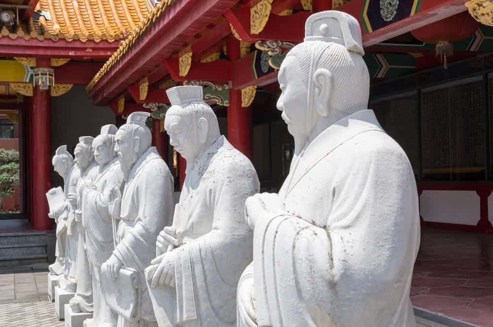 Confucius Shrine 72 Statues