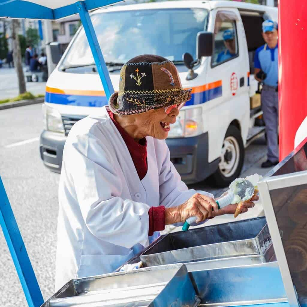 Old Woman Selling Ice Cream