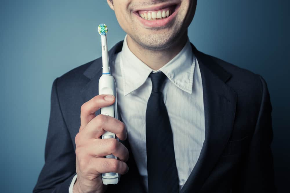 Japan Brushing Teeth in Office