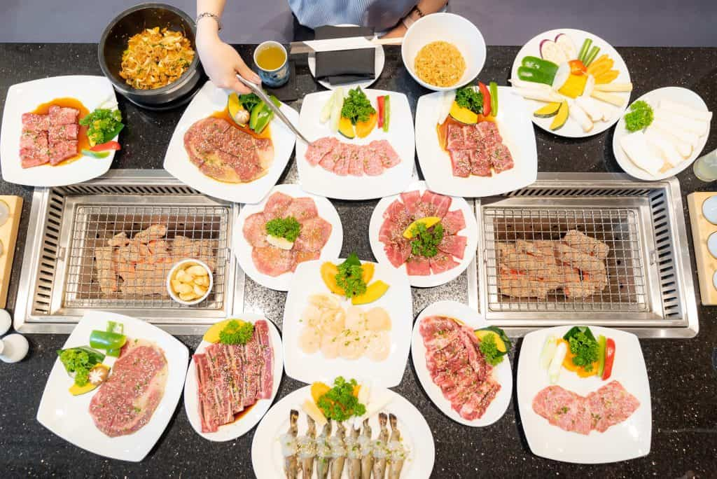 Yakiniku Plates on Table