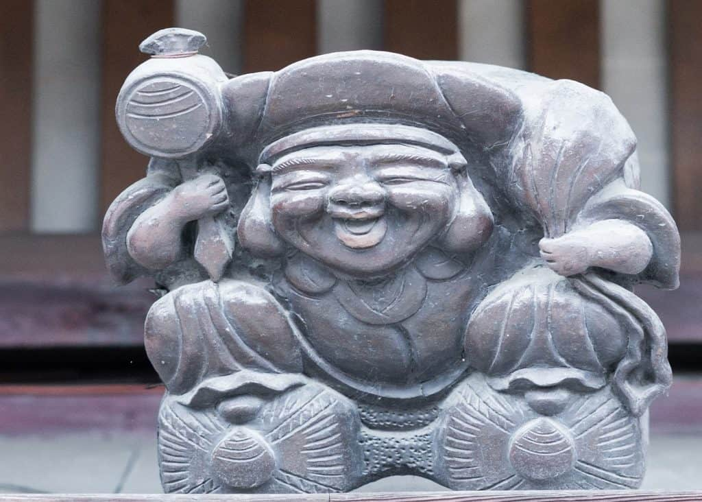 Wooden Statue of Ebisu, theJapanese god of luck